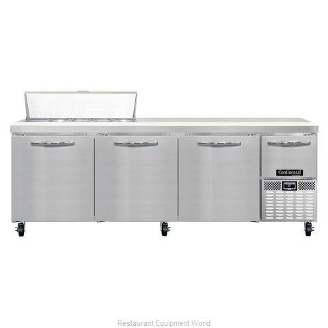 Continental Refrigerator CRA93-10 Refrigerated Counter, Sandwich / Salad Top