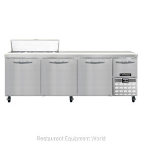 Continental Refrigerator CRA93-10 Refrigerated Counter, Sandwich / Salad Top