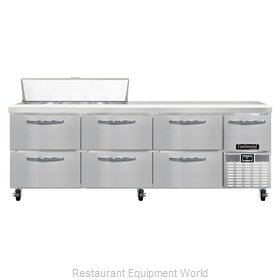 Continental Refrigerator CRA93-12-D Refrigerated Counter, Sandwich / Salad Top