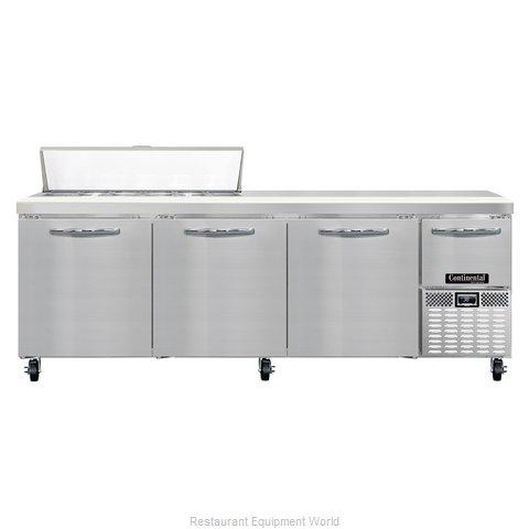 Continental Refrigerator CRA93-12 Refrigerated Counter, Sandwich / Salad Top