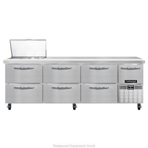 Continental Refrigerator CRA93-12M-D Refrigerated Counter, Mega Top Sandwich / S