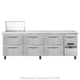 Continental Refrigerator CRA93-12M-D Refrigerated Counter, Mega Top Sandwich / S