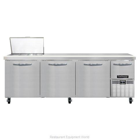 Continental Refrigerator CRA93-12M Refrigerated Counter, Mega Top Sandwich / Sal