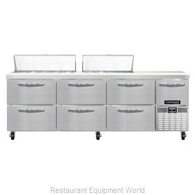Continental Refrigerator CRA93-18-D Refrigerated Counter, Sandwich / Salad Top