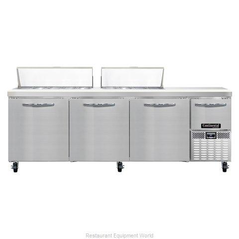 Continental Refrigerator CRA93-18 Refrigerated Counter, Sandwich / Salad Top