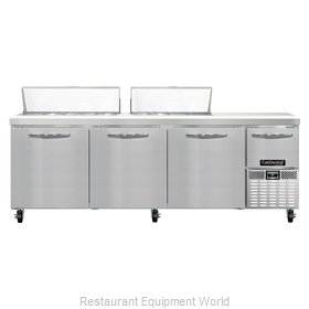 Continental Refrigerator CRA93-18 Refrigerated Counter, Sandwich / Salad Top