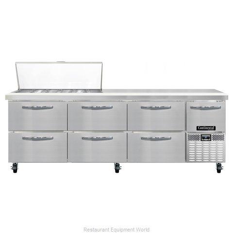 Continental Refrigerator CRA93-18M-D Refrigerated Counter, Mega Top Sandwich / S
