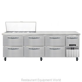 Continental Refrigerator CRA93-18M-D Refrigerated Counter, Mega Top Sandwich / S