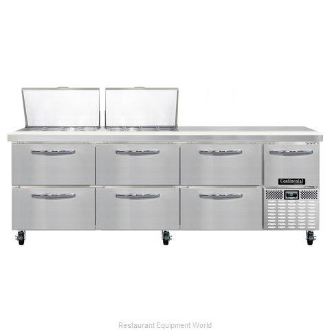 Continental Refrigerator CRA93-24M-D Refrigerated Counter, Mega Top Sandwich / S