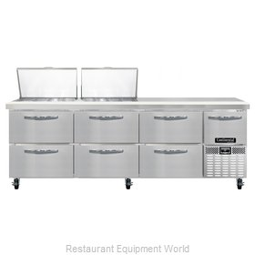 Continental Refrigerator CRA93-24M-D Refrigerated Counter, Mega Top Sandwich / S