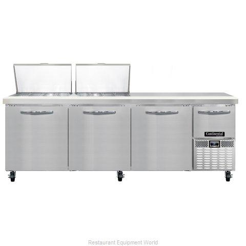 Continental Refrigerator CRA93-24M Refrigerated Counter, Mega Top Sandwich / Sal