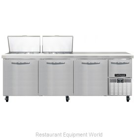 Continental Refrigerator CRA93-24M Refrigerated Counter, Mega Top Sandwich / Sal