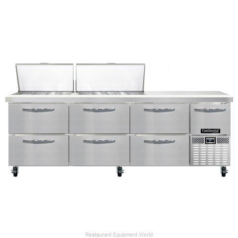 Continental Refrigerator CRA93-27M-D Refrigerated Counter, Mega Top Sandwich / S