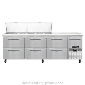 Continental Refrigerator CRA93-27M-D Refrigerated Counter, Mega Top Sandwich / S