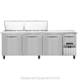 Continental Refrigerator CRA93-27M Refrigerated Counter, Mega Top Sandwich / Sal