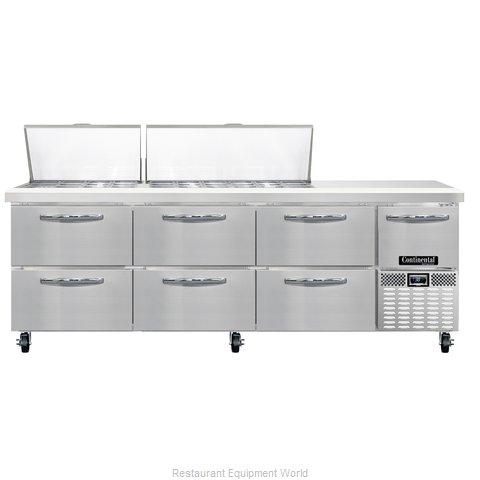 Continental Refrigerator CRA93-30M-D Refrigerated Counter, Mega Top Sandwich / S