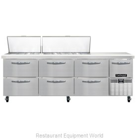 Continental Refrigerator CRA93-30M-D Refrigerated Counter, Mega Top Sandwich / S