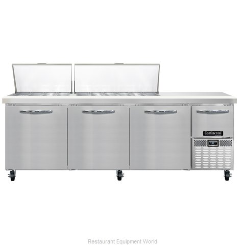 Continental Refrigerator CRA93-30M Refrigerated Counter, Mega Top Sandwich / Sal
