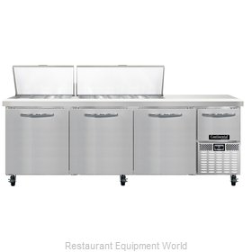 Continental Refrigerator CRA93-30M Refrigerated Counter, Mega Top Sandwich / Sal