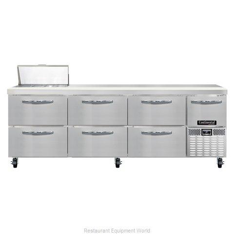 Continental Refrigerator CRA93-8-D Refrigerated Counter, Sandwich / Salad Top