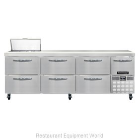 Continental Refrigerator CRA93-8-D Refrigerated Counter, Sandwich / Salad Top