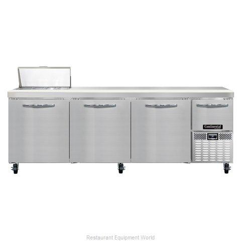 Continental Refrigerator CRA93-8 Refrigerated Counter, Sandwich / Salad Top