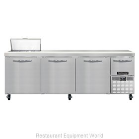 Continental Refrigerator CRA93-8 Refrigerated Counter, Sandwich / Salad Top