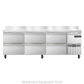 Continental Refrigerator CRA93-BS-D Refrigerated Counter, Work Top