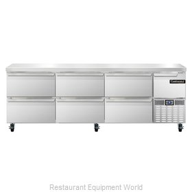 Continental Refrigerator CRA93-D Refrigerated Counter, Work Top