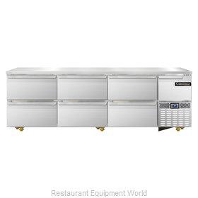 Continental Refrigerator CRA93-U-D Refrigerator, Undercounter, Reach-In