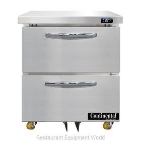 Continental Refrigerator D27N-U-D Refrigerator, Undercounter, Reach-In