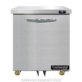 Continental Refrigerator D27N-U Refrigerator, Undercounter, Reach-In