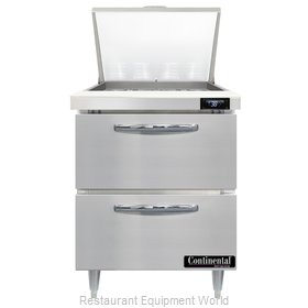 Continental Refrigerator D27N12M-D Refrigerated Counter, Mega Top Sandwich / Sal