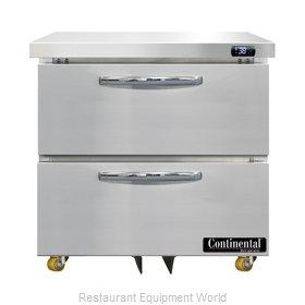 Continental Refrigerator D32N-U-D Refrigerator, Undercounter, Reach-In
