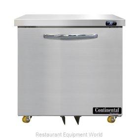 Continental Refrigerator D32N-U Refrigerator, Undercounter, Reach-In