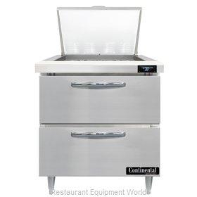 Continental Refrigerator D32N12M-D Refrigerated Counter, Mega Top Sandwich / Sal