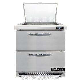 Continental Refrigerator D32N12M-FB-D Refrigerated Counter, Mega Top Sandwich /