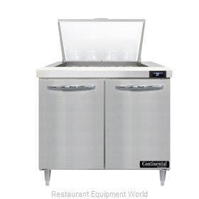 Continental Refrigerator D36N12M Refrigerated Counter, Mega Top Sandwich / Salad