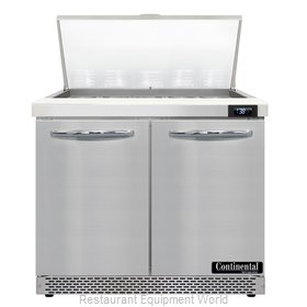 Continental Refrigerator D36N15M-FB Refrigerated Counter, Mega Top Sandwich / Sa