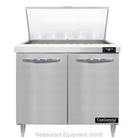 Continental Refrigerator D36N15M Refrigerated Counter, Mega Top Sandwich / Salad
