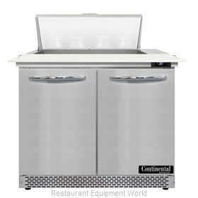 Continental Refrigerator D36N8C-FB Refrigerated Counter, Sandwich / Salad Unit