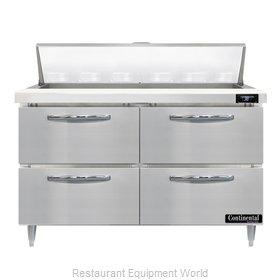 Continental Refrigerator D48N12-D Refrigerated Counter, Sandwich / Salad Unit