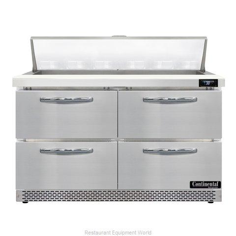 Continental Refrigerator D48N12-FB-D Refrigerated Counter, Sandwich / Salad Unit
