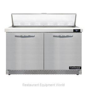 Continental Refrigerator D48N12-FB Refrigerated Counter, Sandwich / Salad Unit
