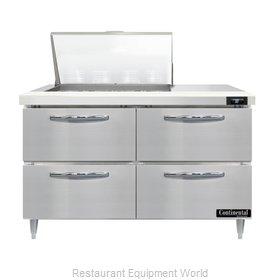 Continental Refrigerator D48N12M-D Refrigerated Counter, Mega Top Sandwich / Sal