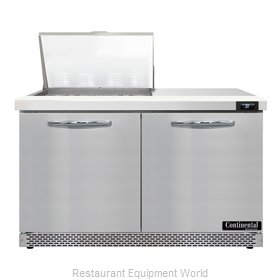 Continental Refrigerator D48N12M-FB Refrigerated Counter, Mega Top Sandwich / Sa