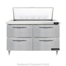 Continental Refrigerator D48N18M-D Refrigerated Counter, Mega Top Sandwich / Sal