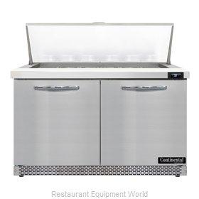 Continental Refrigerator D48N18M-FB Refrigerated Counter, Mega Top Sandwich / Sa
