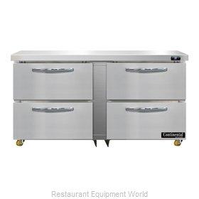 Continental Refrigerator D60N-U-D Refrigerator, Undercounter, Reach-In