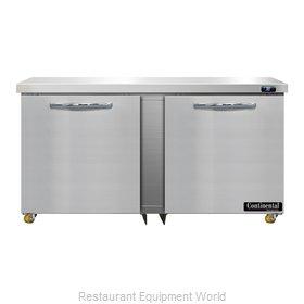 Continental Refrigerator D60N-U Refrigerator, Undercounter, Reach-In